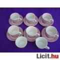 Eladó *Bordó színű porcelán kávéskészlet 14 db