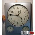 Eladó Fali Óra + Hőmérő + Páramérő (rendben működik)
