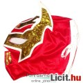 Eladó felvehető Pankráció / Pankrátor Maszk - piros Sin Cara maszk - szövetből, fűzős rögzítéssel