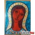Lőrincz Vitus: Szűz anya tűzzománc kép,zsűrizett