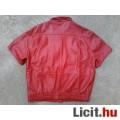 *BONETO Piros rövid ujjú bőr kabát 44-es
