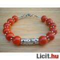 Eladó Tibeti ezüst piros jáde köves karkötő