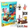 5db Spongyabob figura - Patrik, Spongya Bob, Szandi, Rákuram és Plankton Mega Bloks minifigura készl