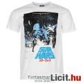 Eladó eredeti Star Wars klasszikus plakát póló - felnőtt L méret - hivatalos Csillagok Háborúja fehér póló