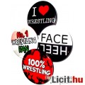 Eladó Wrestling / Pankráció kitűző szett - 4db Wrestling / Pankrátor kitűző - 32mm