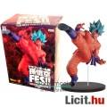 Eladó 20cm-es Dragon Ball Z figura - nagy Son Goku kék hajú Super Saiyan God szobor figura rúgó pózban - B
