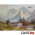 Eladó Osztrák tájkép a Tiroli Alpok csúcsaival, szignált