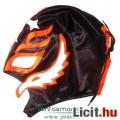 Eladó Pankrátor maszk - Rey Mysterio fekete-narancs-fehér felvehető mexikói Lucha Libre Pankráció maszk