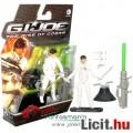 GI Joe figura - 10cm mozi Storm Shadow fehér Cobra Ninja extra-mozgatható katona figura lövedékes fe