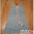 Eladó csinos hímzett ,flitteres farmer ruha,méret:98/104