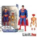 Eladó 16cmes Superman figura klasszikus Man of Steel / Acélember képregény megjelenéssel és Kriptoni robot