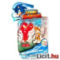 Eladó Sega Sonic figura - 8cm-es Sonic szett Knuckles és Tails játék figura - 2db mozgatható minifigura -