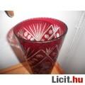 Antik bíbor színű csiszolt váza 30cm