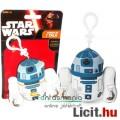 Eladó Star Wars plüss figura - 9cmes R2-D2 / R2D2 beszélő mini plüss játék droid figura - Új Csillagok Háb