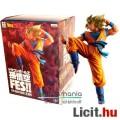 Eladó 20cm-es Dragon Ball Z figura - nagy Son Goku Super Saiyan szobor figura rugó pózban - Banpresto Drag