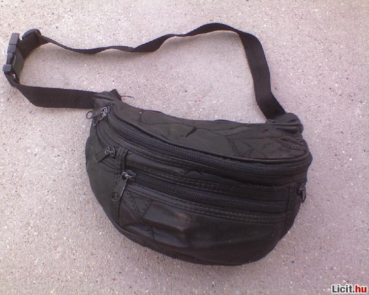 Licit.hu  Több zsebes fekete bőr öv táska Az ingyenes aukciós ... 4f972e8826