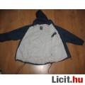 Sötétkék vékony bélésű átmeneti kabát,méret:152
