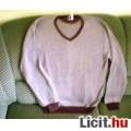 Új, XL-es rozsdabarnás elegáns pulóver, márkás