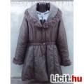 Eladó *Barna kacsúsított átmeneti  kabát  nagy gallérral XL-es
