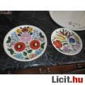Eladó Kézzel festett jelzett kalocsai porcelán tányér, rajta feliratok: Kalo