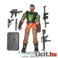 Eladó GI Joe figura - Heavy Duty katona figura géppuskával, gránátvetővel, felszereléssel és talppal - Has