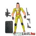 Eladó GI Joe figura - Lady Jaye női katona figura hangtompítós pisztollyal, felszereléssel és talppal - Ha