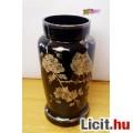 Eladó Ezüst festésű antik váza madaras, virágos motívumokkal, Muránói üvegbő