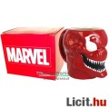 Eladó 3D Marvel dombormű bögre - Carnage / Mészárszék piros Venom-szerű Pókember ellenség fej formával, Ma