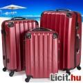 Eladó Uj utazótáska bőrönd 3 db-os vörös