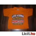 Eladó R. R. Roberts 6-12 hónaposra tündéri menő narancssárga póló