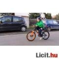 """Eladó Fekete-narancs, """"olyan igazi bringa"""", gyermek kerékpár"""