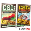 Használt könyv - 2db CSI Helyszínelők Hideglelés, Hőhullám, Max Allan Collins - TV sorozat régi regé