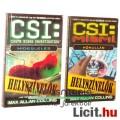 Eladó Használt könyv - 2db CSI Helyszínelők Hideglelés, Hőhullám, Max Allan Collins - TV sorozat régi regé