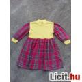 Eladó *Sárga-piros kockás ruha kb. 104-es