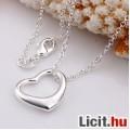 Eladó 925 sterling ezüst lánc + szív alakú medál