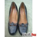 Szép fekete belül bőr magassarkú cipő 37 - bth: 23,5 cm