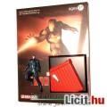 Vasember / Iron Man figura - Mark 16 kék éjjeli páncélos miniatűr gyűjtői figura talapzattal - Drago