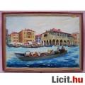 Eladó Velencei csónakázás, háttérben a Regatta Storica piaci nyüzsgése