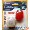 LED-es kerékpár világítás, szilikon tokban, 1pár
