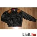 SMOG fekete egyedi kabát,méret:L