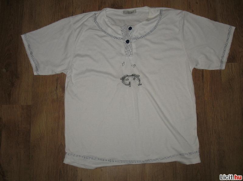 Licit.hu fehér delfines női pizsama 049434c128