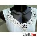 *IRIS fehér csipkés trikó 40-es