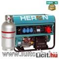 Eladó benzin-gáz motoros áramfejlesztő, max 6800/5500 VA, háromfázisú (EGM-6