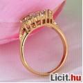 Álomszép fehér zafír strasszos elegáns gyűrű - Vadonatúj!