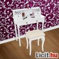 Fésülködő asztal sminkasztal székkel tükör nélkül Új