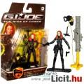 Eladó GI Joe figura - 10cm mozi Scarlett / Fekete Özvegy női kommandós katona figura lövedékes fegyverrel