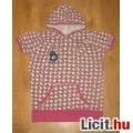 Virágos kapucnis vagány lányka póló,méret:158