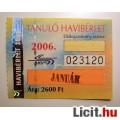Eladó BKV Havibérlet Tanuló 2006 Január v1 (BKV Bérlet Gyűjteménybe) 2kép :)