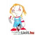 Eladó 18-20cmes Chucky plüss játék baba Horror Child's Play / Gyerekjáték nagyfejű Mezco plüss - címké