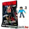 6cmes Minimates Predator figura - Predators Cuchillo / Danny Trejo mozgatható minifigura géppisztoll